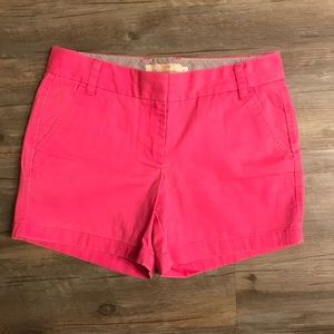 J. Crew Vibrant Pink Chino Shorts